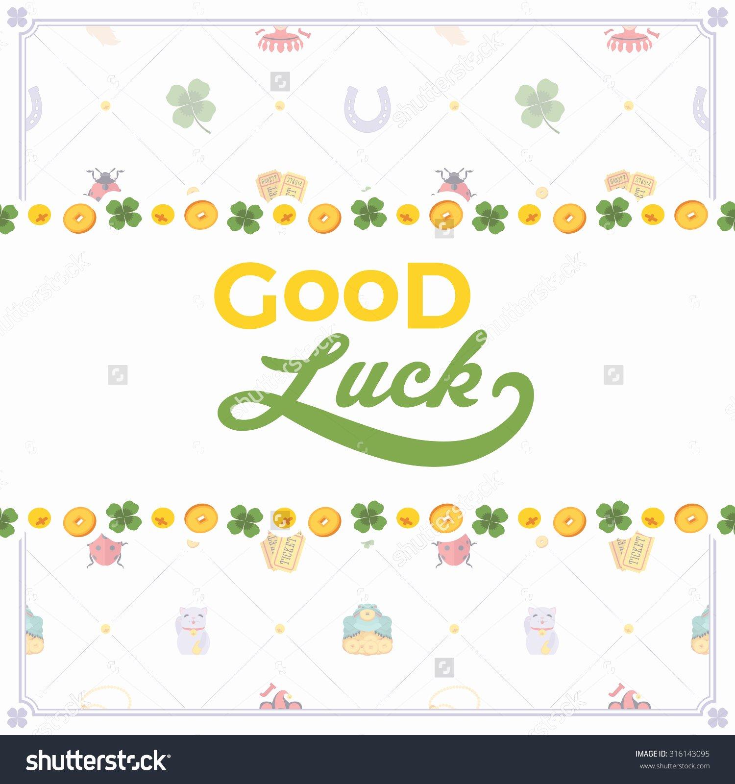 Good Luck Card Template New Good Luck Card Template Portablegasgrillweber