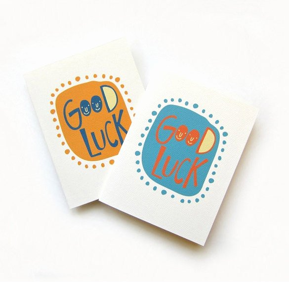 Good Luck Card Template Unique 7 Good Luck Card Templates Psd Eps