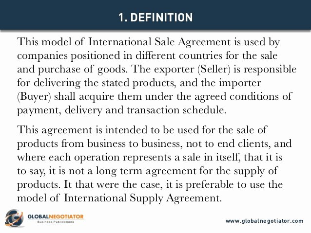 Goods Purchase Agreement Template Elegant International Sale Agreement Template