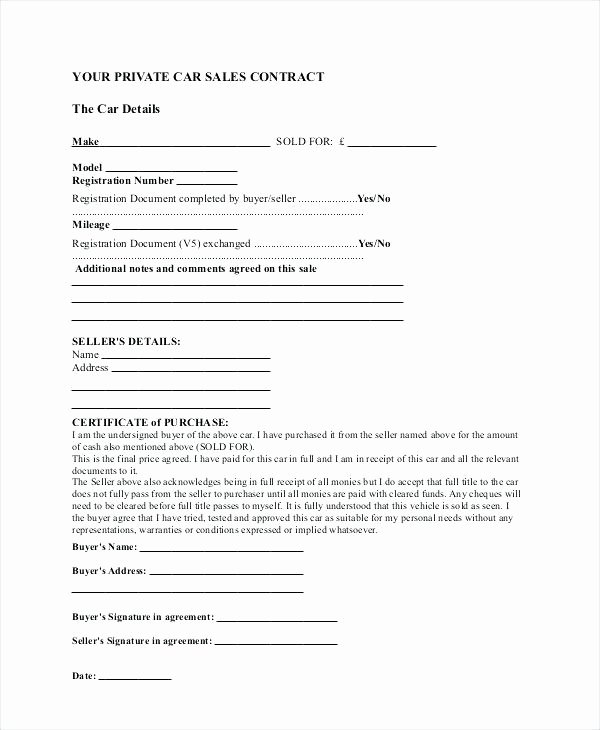 Goods Purchase Agreement Template Unique Sample Purchase Agreement Sale Business Contract