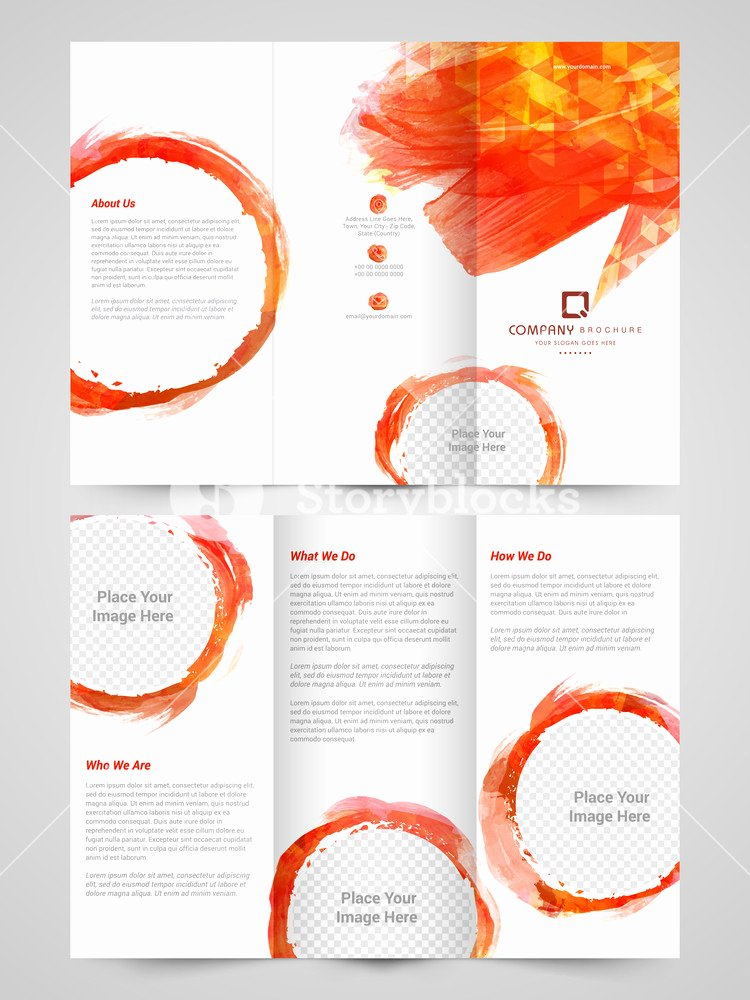 Google Brochure Template Free New Abstract Trifold Brochure Template Flyer Design with