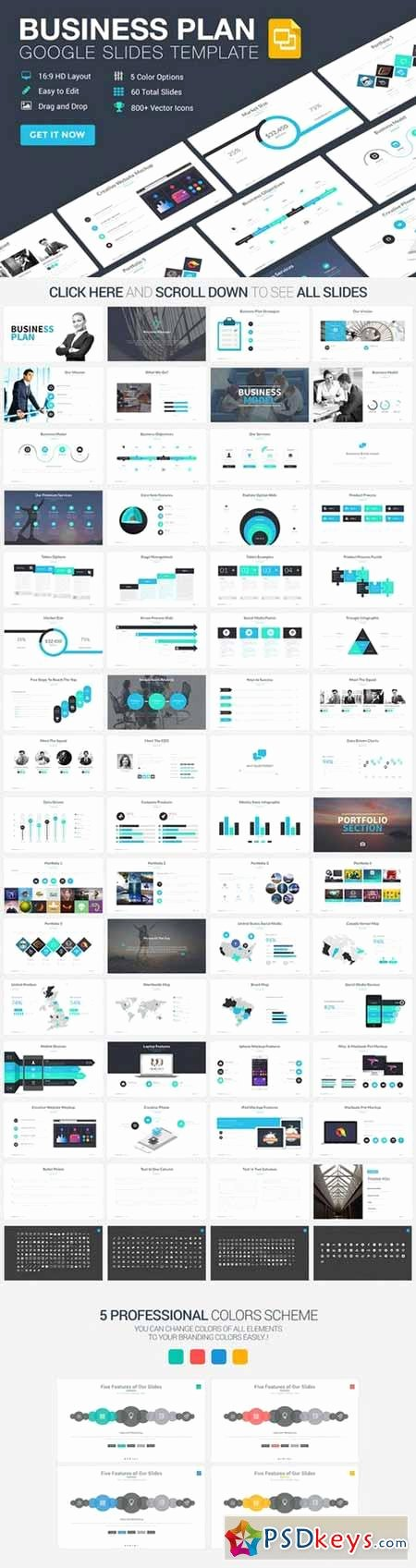 Google Business Plan Template Awesome Business Plan Google Slides Template Free