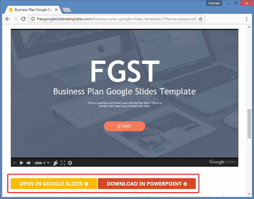 Google Business Plan Template Elegant Free Business Plan Template for Google Slides