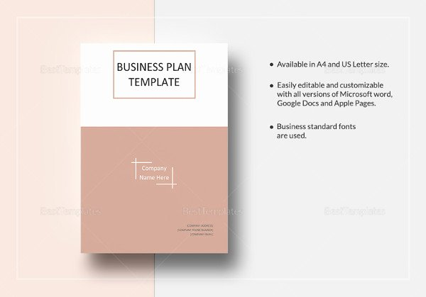 Google Business Plan Template Fresh 19 Business Plan Templates Sample Word Google Docs