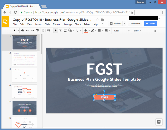 Google Business Plan Template Inspirational Free Business Plan Google Slides Template