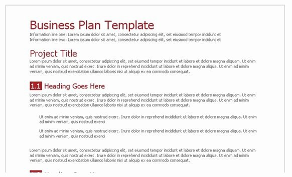 Google Business Plan Template New Business Plan Template Google Docs Business Plan Template