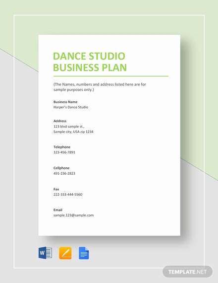 Google Business Plan Template Unique 6 Dance Studio Business Plan Templates Pdf Google Docs
