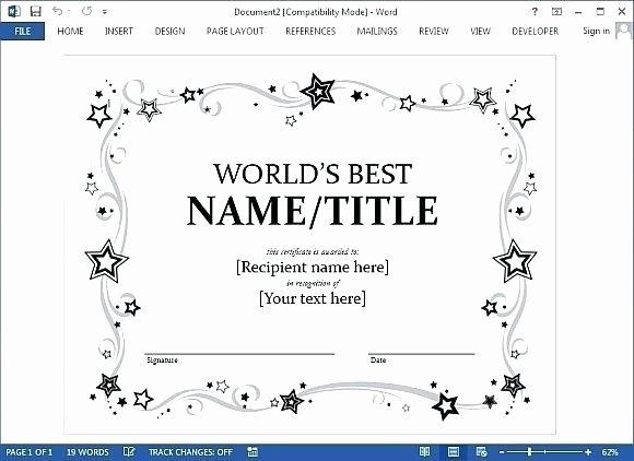 Google Doc Certificate Template Lovely Certificate Template Google Docs 2018