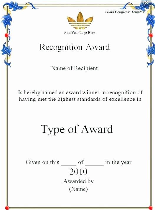 Google Doc Certificate Template Luxury Certificate Templates Stunning Google Docs Award Template