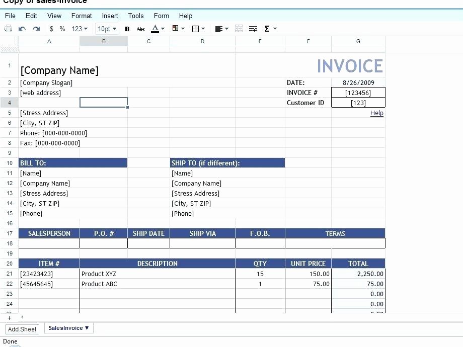 Google Doc Invoice Template Best Of Google Documents Invoice Template Sheet Warm Professional
