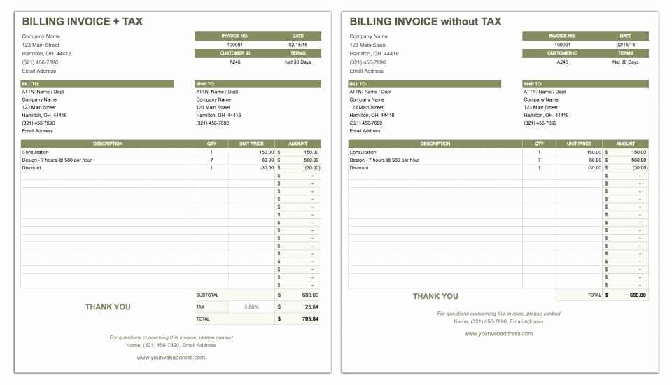 Google Doc Invoice Template Unique Invoice Template Google Doc Lovely Free Google Docs