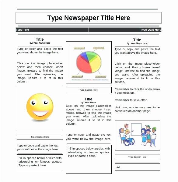 Google Doc Newsletter Template Fresh Student Newspaper Template Google Doc Classroom Newsletter