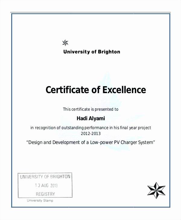 Google Docs Award Template Elegant 9 Scholarship Certificate Templates Free Word format