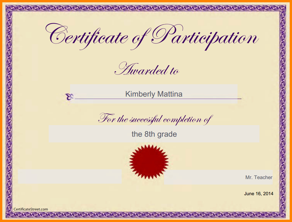 Google Docs Award Template Unique Certificate Template Google Docs