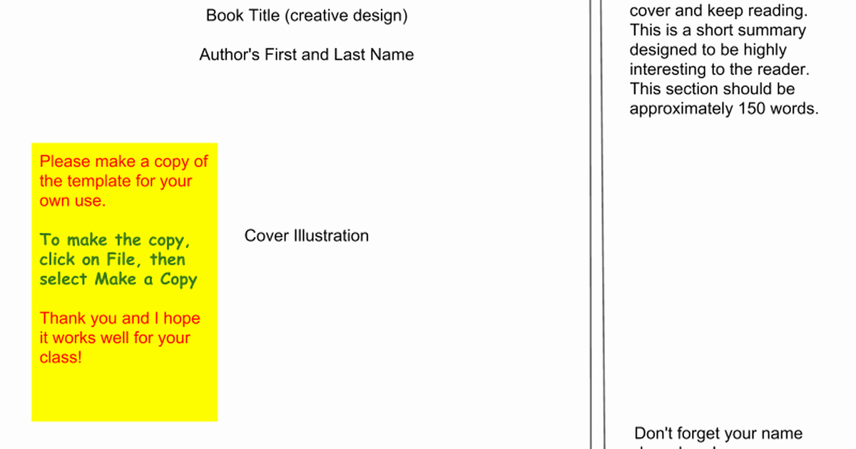 Google Docs Booklet Template Best Of Book Jacket Template Google Slides