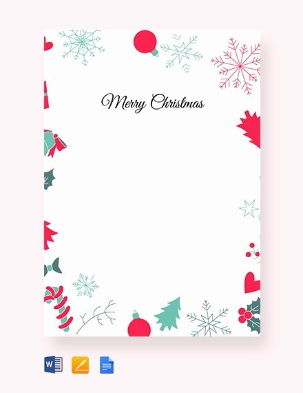 Google Docs Border Template Beautiful 13 Christmas Letter Templates Word Apple Pages Google