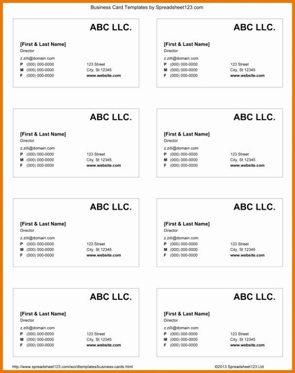 Google Docs Card Template New Google Docs Business Card Template 2018