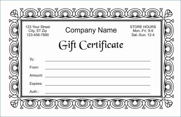 Google Docs Certificate Template Elegant Google Docs Gift Certificate Template
