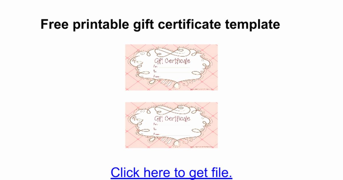 Google Docs Certificate Template New Gift Certificate Template Google Docs