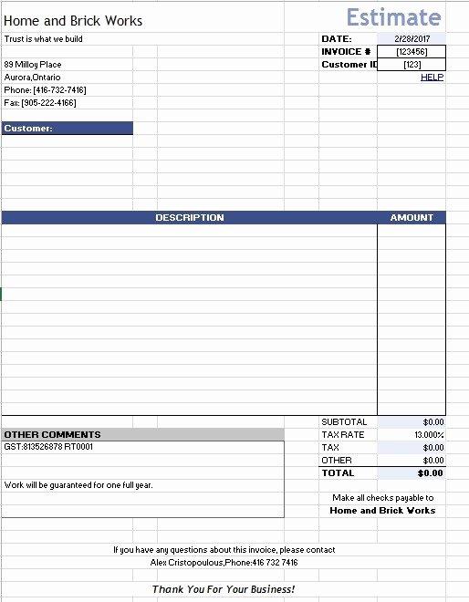 Google Docs Estimate Template Inspirational 12 Free Sample Home Repair Estimate Templates Printable