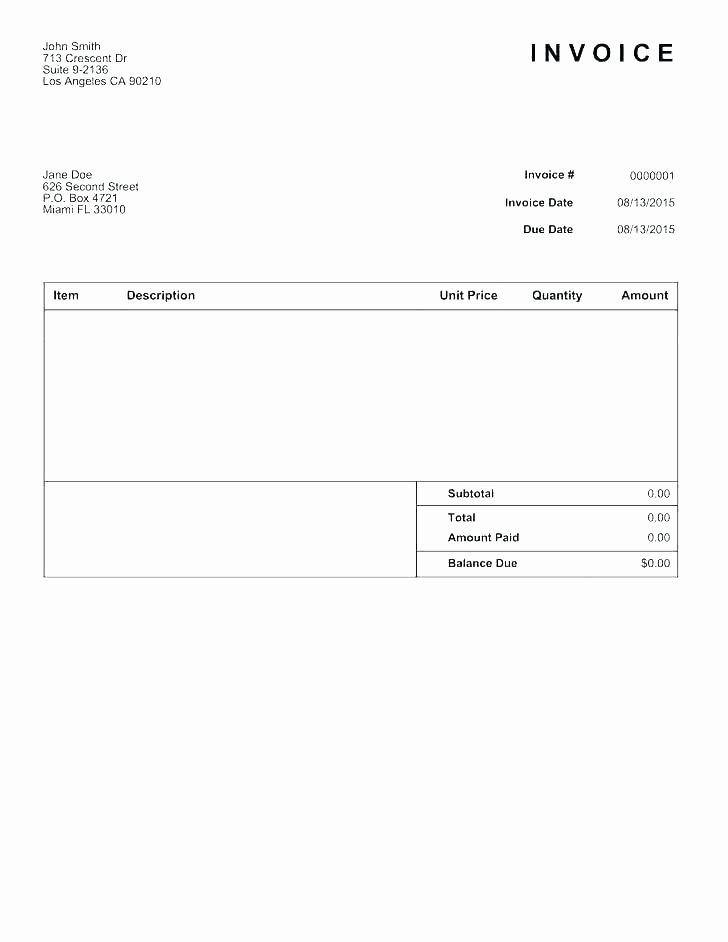 Google Docs Estimate Template New Invoice Google Doc Template Google Doc Receipt Template