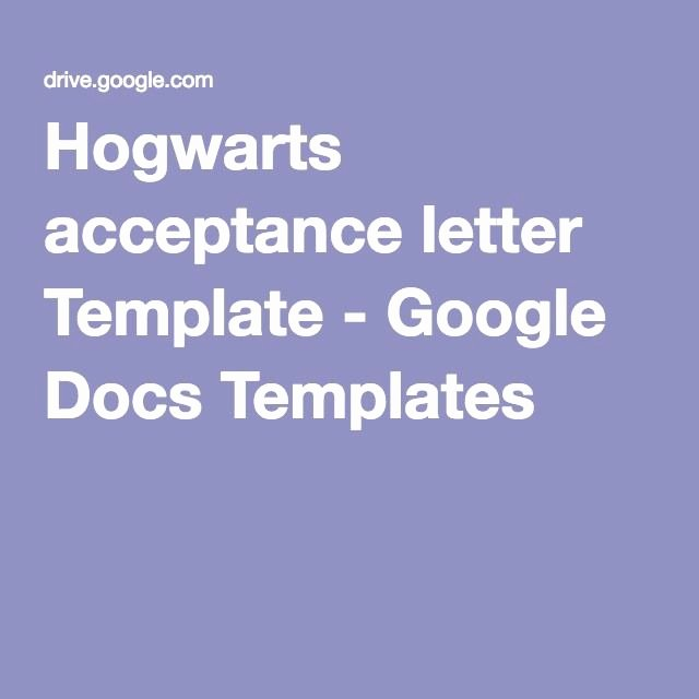 Google Docs Letter Template Awesome Hogwarts Acceptance Letter Template Google Docs