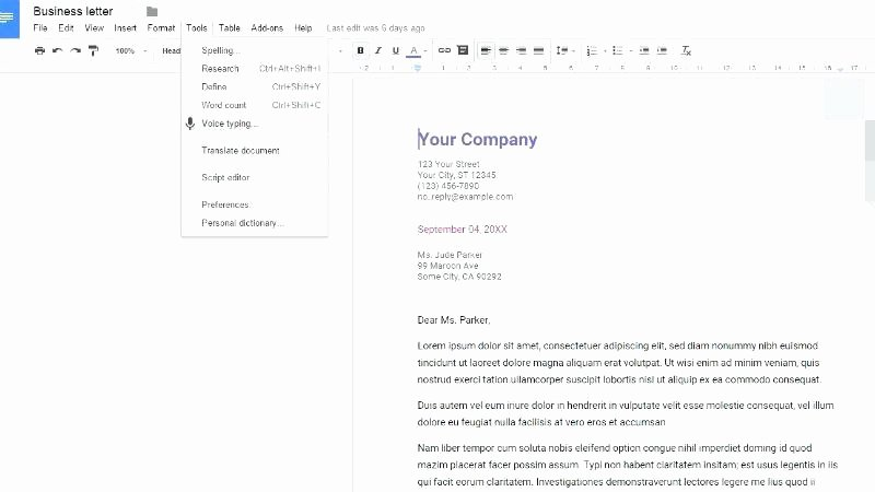 Google Docs Letter Template Luxury Thank You Letter Template Google Docs Google Docs Letter