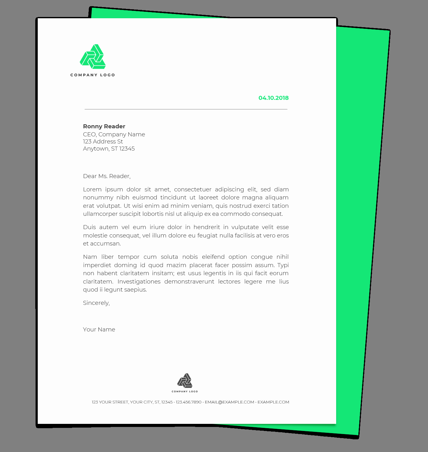 Google Docs Letterhead Template Elegant Free Letterhead Templates for Google Docs and Word