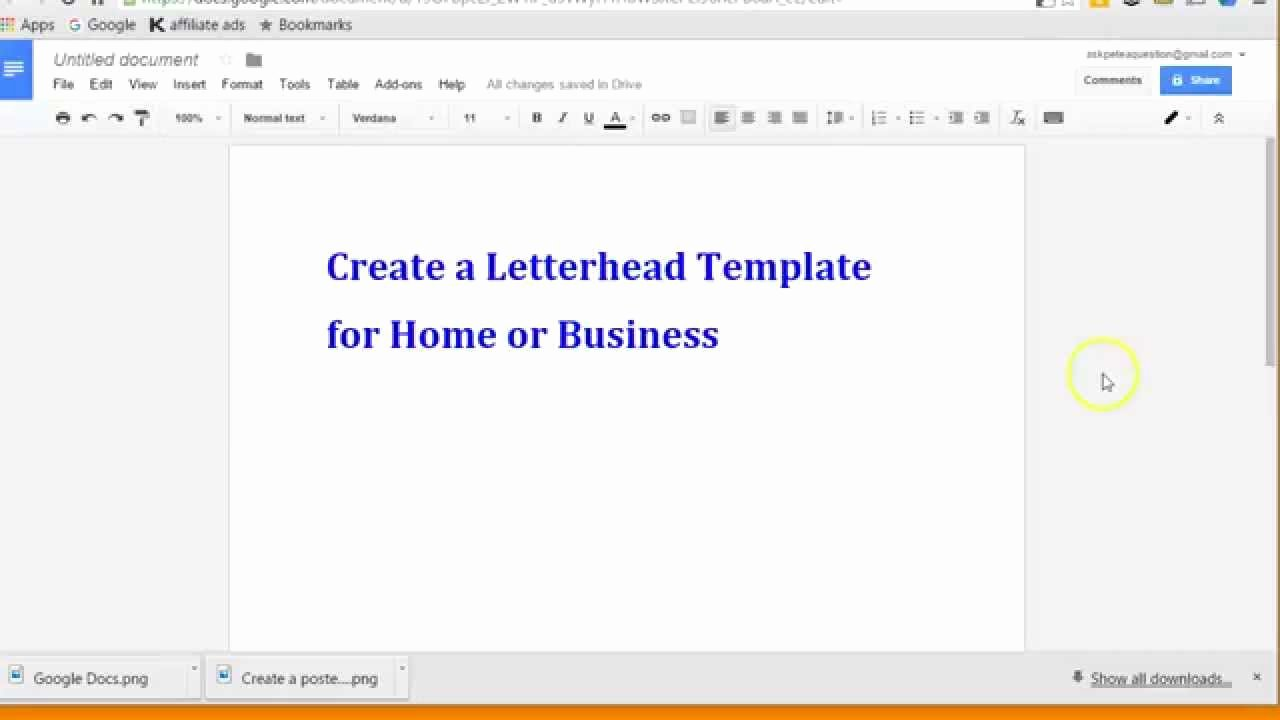 Google Docs Letterhead Template Luxury Create Letterhead Layout with Google Docs