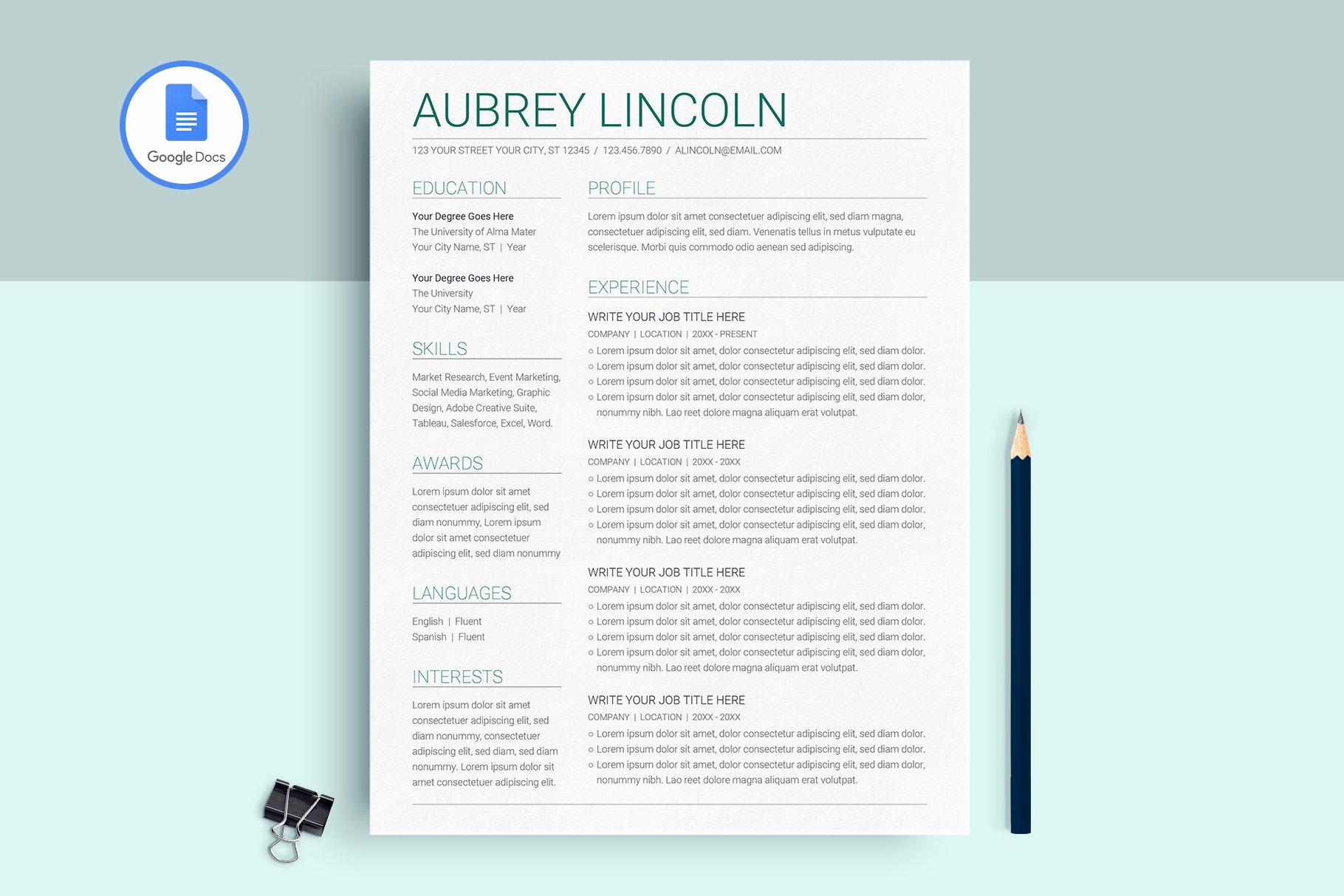 Google Docs Magazine Template Unique Google Docs Resume Template Resume Templates Creative