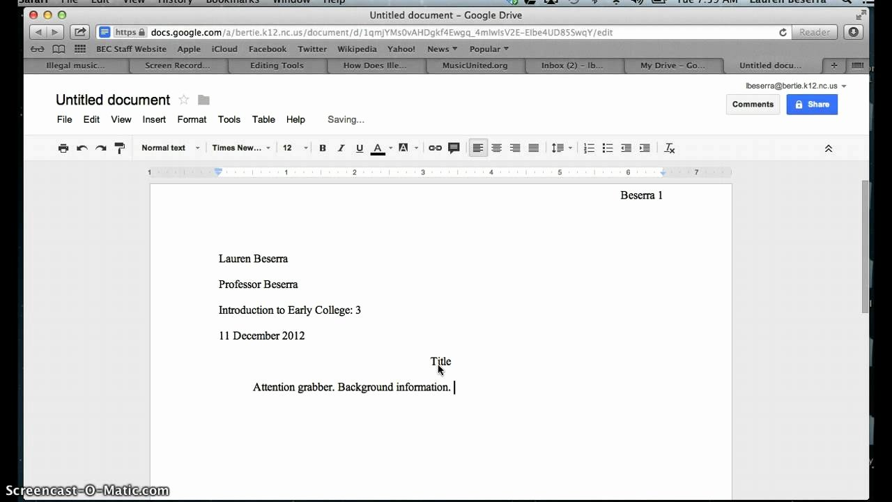 Google Docs Mla Template Elegant How to Set Up A Document In Mla format In Google Docs