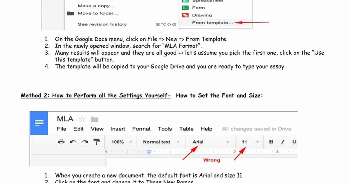 Google Docs Mla Template Unique Mla format Google Docs Google Docs