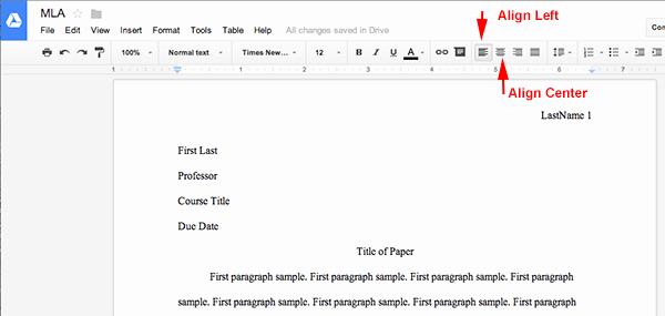 Google Docs Mla Template Unique Mla format Using Google Docs