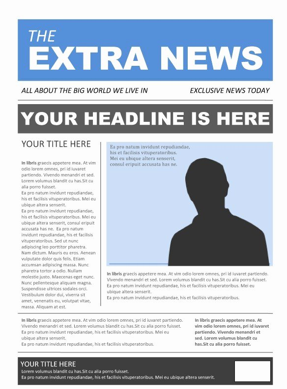 Google Docs Newspaper Template Awesome 25 Free Google Docs Newspaper and Newsletter Template for