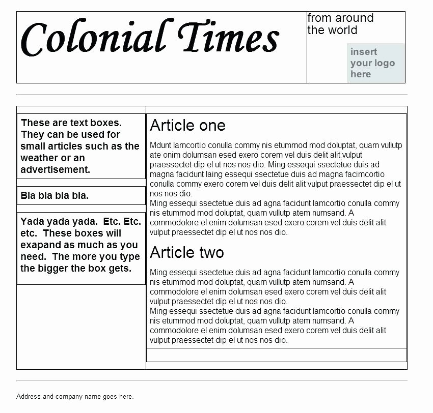 Google Docs Newspaper Template Awesome News Article Templates Intended R Free Newspaper Template