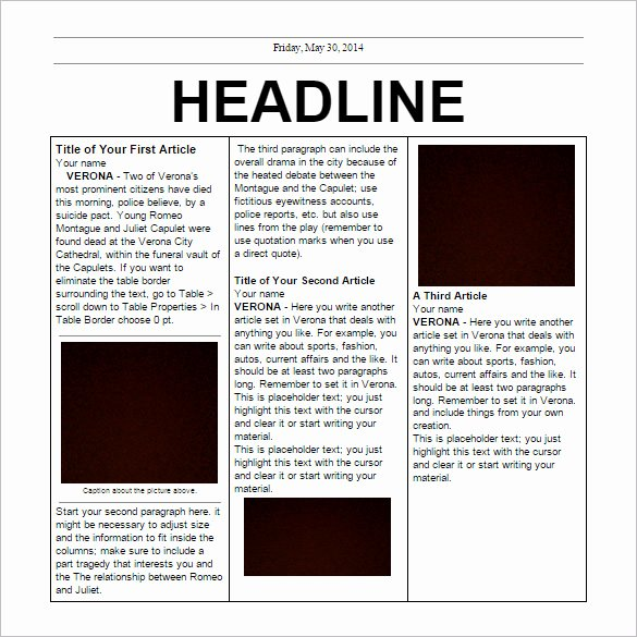 Google Docs Newspaper Template Beautiful 17 Free Newspaper Templates Psd Doc Pdf Ppt