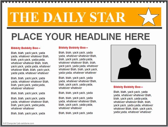 Google Docs Newspaper Template Best Of 10 Best Of Google Docs Newspaper Article Template