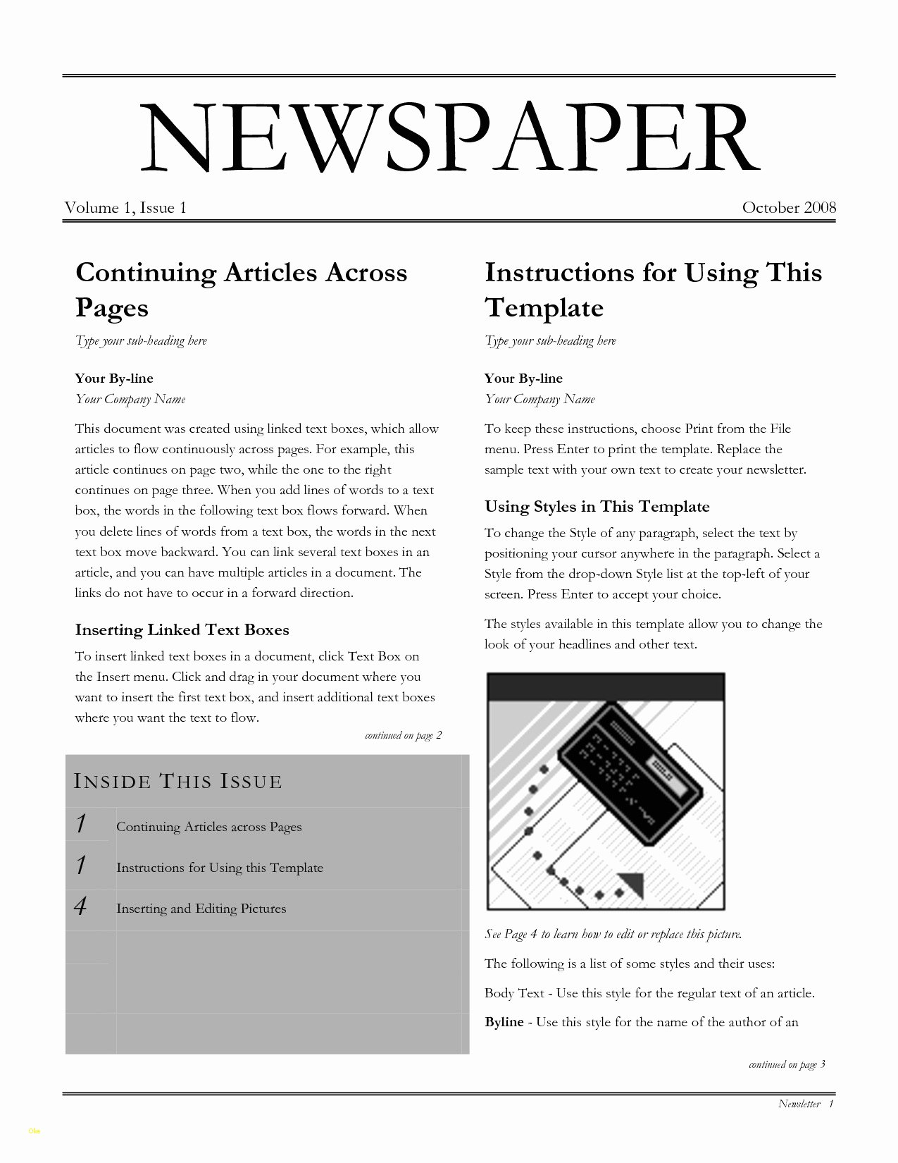Google Docs Newspaper Template Best Of Best Newspaper Template for Google Docs