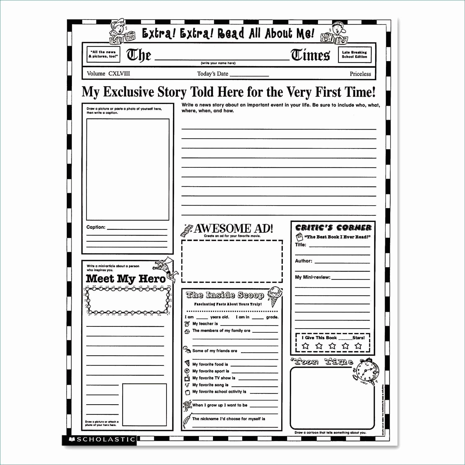 Google Docs Newspaper Template Inspirational Blank Newspaper Template Google Docs