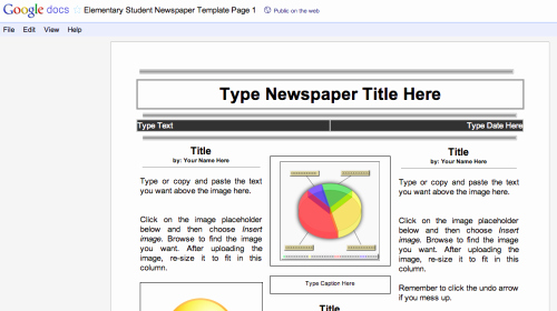 Google Docs Newspaper Template Inspirational Duh