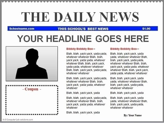 Google Docs Newspaper Template New Blank Newspaper Template Google Docs