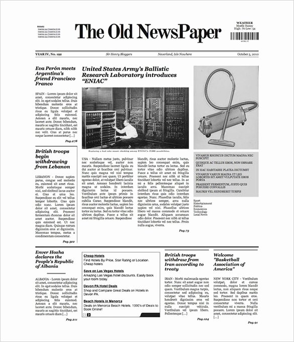 Google Docs Newspaper Template New Free Newspaper Template 10 Blank Google Docs Word