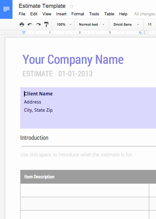 Google Docs Quote Template Luxury Free Invoice & Timesheet Templates Cashboard