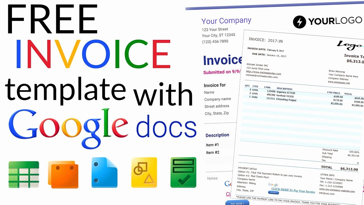 Google Docs Receipt Template Lovely Free Invoice Template How to Create An Invoice Using