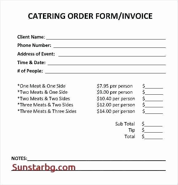 Google Docs Receipt Template New Catering Receipt Template Restaurant Catering Invoice