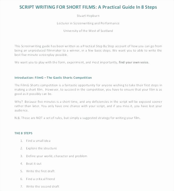 Google Docs Screenplay Template Awesome Script Writing Template Movie Professional Templates