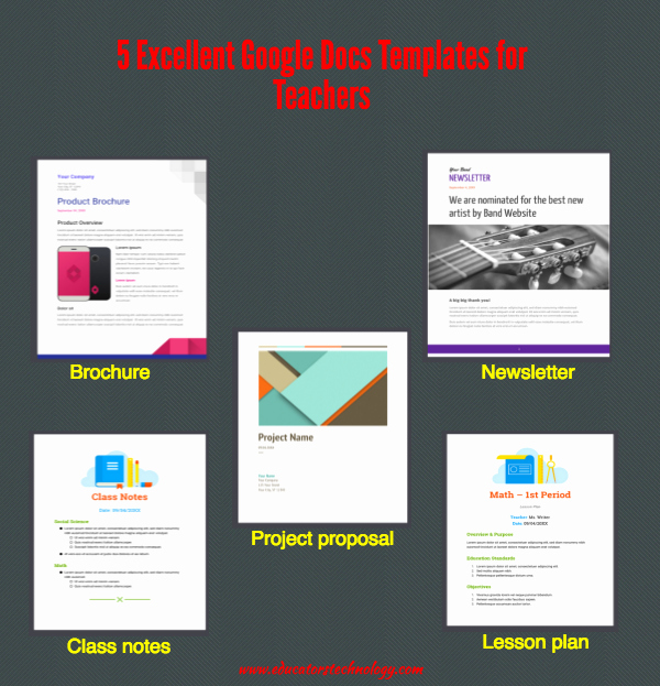 Google Drive Newsletter Template Elegant 5 Excellent Google Docs Templates for Teachers
