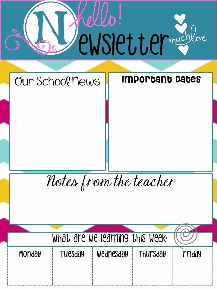 "Google Drive Newsletter Template Inspirational School Newsletters Say ""hello"""