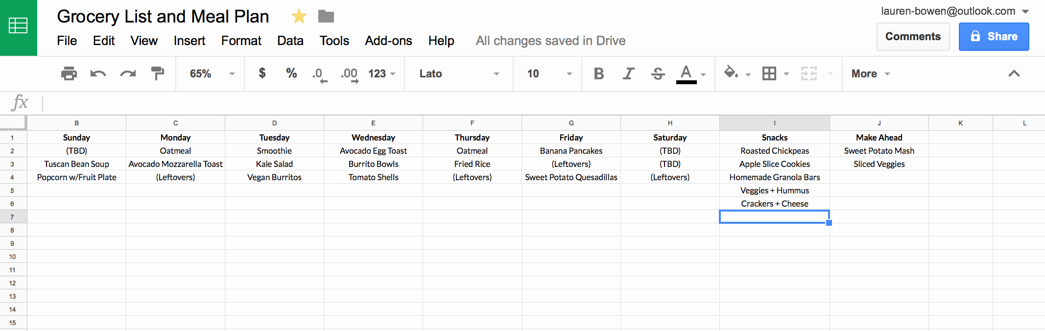 Google Drive Recipe Template Beautiful How I Use Google Sheets for Grocery Shopping and Meal Planning