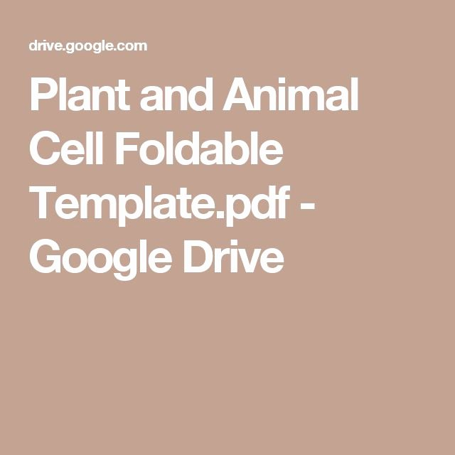 Google Drive Recipe Template Beautiful Plant and Animal Cell Foldable Template Pdf Google Drive